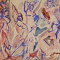 Five Nudes Study by Pg Reproductions