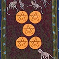 Five Of Pentacles by Sushila Burgess