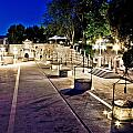 Five Well Square In Zadar Evening View by Brch Photography