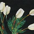 Five White Tulips  by Lynda K Boardman