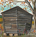 Autumn - Shack - Woodshed by Jan Dappen