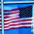 Flag Abstract Reflection by Eric  Schiabor