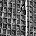 Flag And Windows In Black And White by Rob Hans