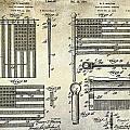 1927 Flag Spreader Patent Drawing by Jon Neidert