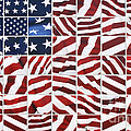 Flag Mosaic by Crystal Nederman