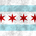 Flag Of Chicago by World Art Prints And Designs