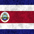 Flag Of Costa Rica by World Art Prints And Designs
