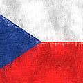 Flag Of Czech Republic by World Art Prints And Designs