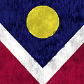 Flag Of Denver by World Art Prints And Designs