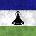Flag Of Lesotho by World Art Prints And Designs