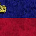 Flag Of Liechtenstein by World Art Prints And Designs