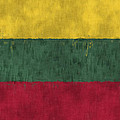 Flag Of Lithuania by World Art Prints And Designs