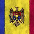 Flag Of Moldavia by World Art Prints And Designs