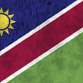 Flag Of Namibia by World Art Prints And Designs