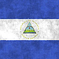 Flag Of Nicaragua by World Art Prints And Designs
