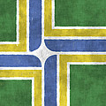 Flag Of Portland by World Art Prints And Designs