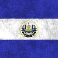 Flag Of Salvador by World Art Prints And Designs