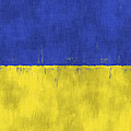 Flag Of Ukraine by World Art Prints And Designs