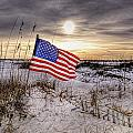 Flag On The Beach by Michael Thomas