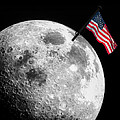 Flag On The Moon by Semmick Photo