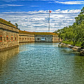 Flag Over The Moat by Jerry Gammon