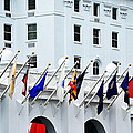 Flags At The Greenbrier by Chastity Hoff