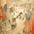 Flags On 57th Street by Georgia Fowler