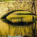flagstone walking bridge at Freedom Park in Charlotte North Car by Alex Grichenko