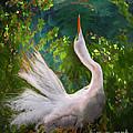 Flamboyant Egret by Melinda Hughes-Berland