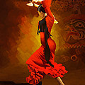 Flamenco Dancer 0013 by Catf