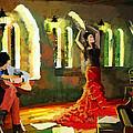 Flamenco Dancer 017 by Catf