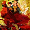 Flamenco Dancer 019 by Catf