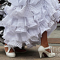 Flamenco Dancer In White by Holly C. Freeman