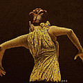 Flamenco Dancer In Yellow Dress by Martin Howard