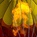 Flames Heating Up Hot Air Balloon by Garry Gay