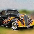 Flames On Wheels by Liz Mackney