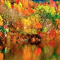 Flaming Autumn Abstract by Georgiana Romanovna