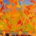 Flaming Indian Girl Sunset by Mayhem Mediums