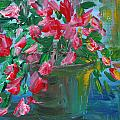 Flaming Pink Flowers by Lyla Mitchell