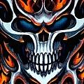 Flaming Skull by Deena Stoddard