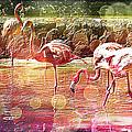 Flamingo Art by Absinthe Art By Michelle LeAnn Scott
