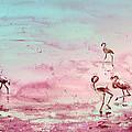 Flamingos In Camargue 03 by Miki De Goodaboom