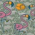 Flamingos Love by Michael Monaghan