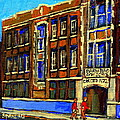 Flashback To Sixties Montreal Memories Baron Byng High School Vintage Landmark St. Urbain City Scene by Carole Spandau