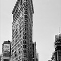Flat Iron In Black And White by Bill Cannon