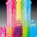 Flat Iron Pop Art by Gary Grayson
