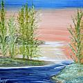 Flathead Lake Sunset by Suzanne Surber