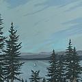 Flathead Sailboat by John Wyckoff