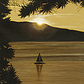 Flathead Sunset by John Wyckoff