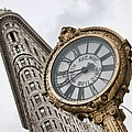 Flatiron And Clock by June Marie Sobrito